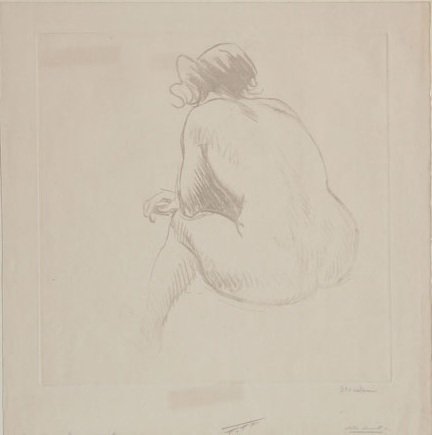 Nude from Behind - Theophile Steinlen