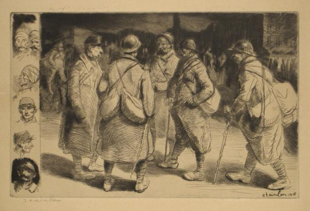 Permissionaires  No-2, 1916 - Theophile Steinlen