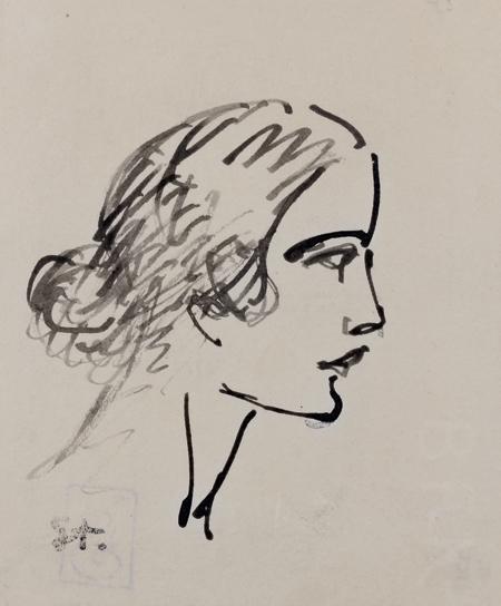 Portraits et étudeslot de six dessins à l'encre ou au crayon - Theophile Steinlen