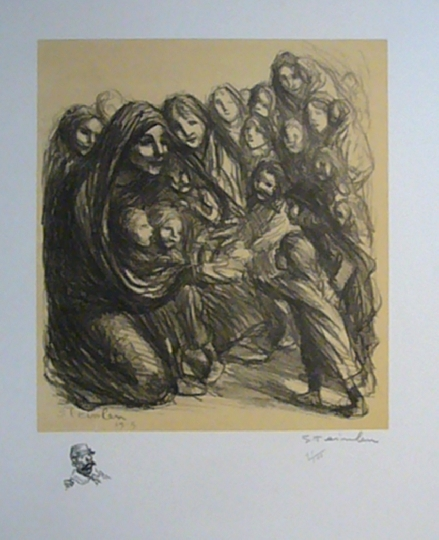 Pour Les Fillettes des Soldats Tombes Au Champ D'Honneur, 1915 - Theophile Steinlen