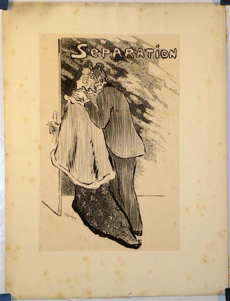 Separation, 1892 - Theophile Steinlen