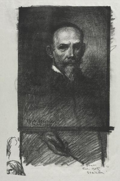 Steinlen de Face Tete Droite, 1905 - Теофиль Стейнлен