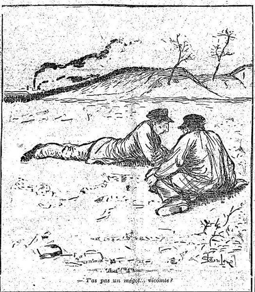 T'as pas un megot-vicomte, 1891 - Theophile Steinlen