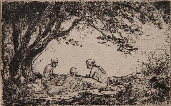 Trois Baigneuses - Theophile Steinlen