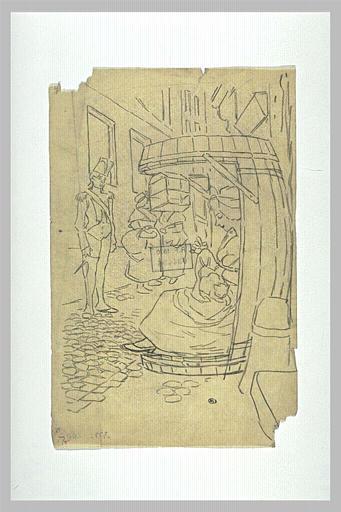 Tu te Brules a la Chandelle, 1900 - Théophile-Alexandre Steinlen