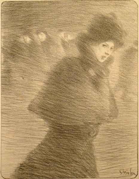 Une Femme Qui Passe, 1897 - Theophile Steinlen
