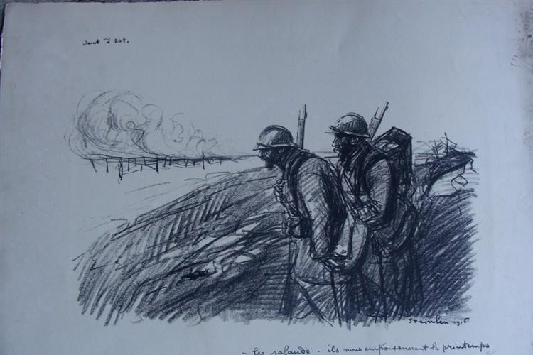Vent d'est, 1916 - Theophile Steinlen