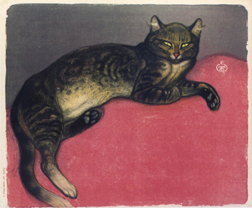 Winter Cat Litho - Theophile Steinlen