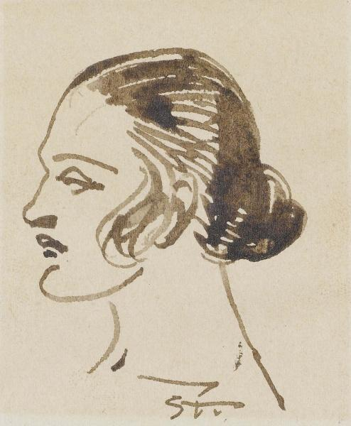 Woman's Profile - Theophile Steinlen