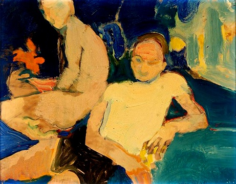 Two Men in an Interior, 1960 - Теофіліус Браун