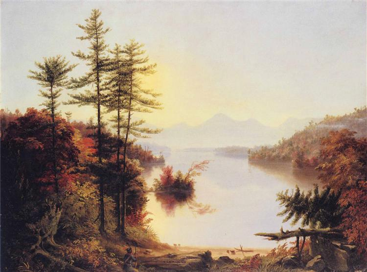 View on Lake Winnipiseogee, 1828 - Thomas Cole