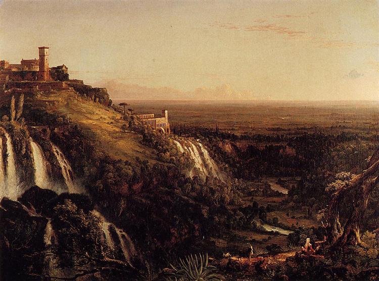 The Cascatelli, Tivoli, Looking Towards Rome (View of Rome from Tivoli), 1832 - Thomas Cole