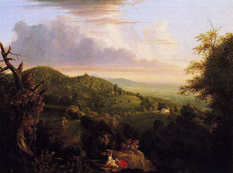 View of Monte Video Seat of Daniel Wadsworth, 1828 - Thomas Cole
