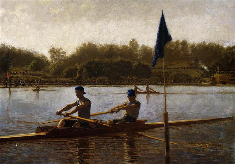 The Biglin Brothers Turning the Stake Boat, 1873 - Thomas Eakins