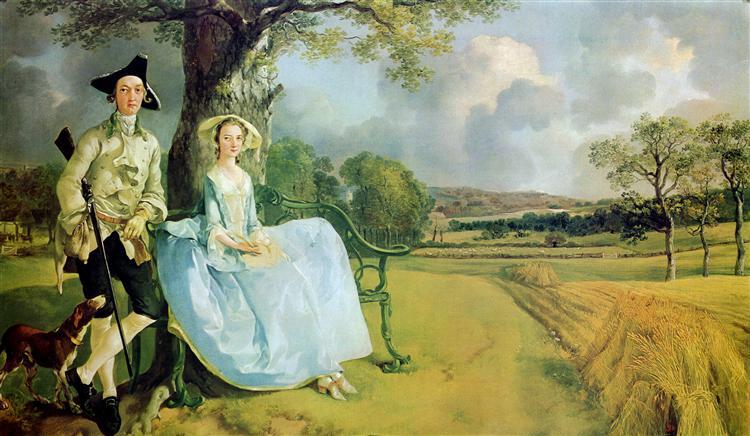 Томас Гейнсборо, портрет четы Эндрюс.