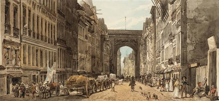 La Rue St Denis, 1802 - Thomas Girtin