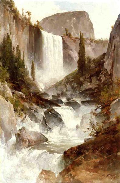 Falls in Yosemite, 1892 - Thomas Hill