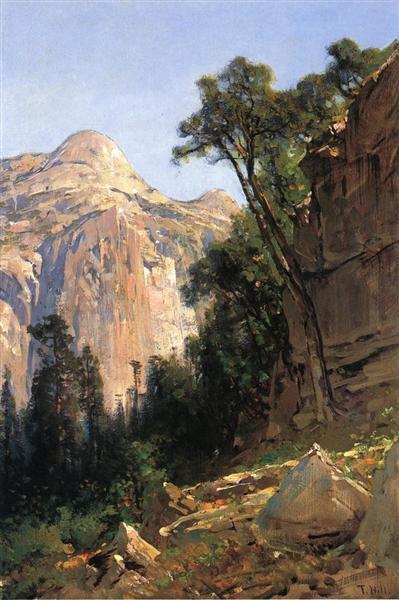 North Dome, Yosemite Valley, 1870 - Thomas Hill