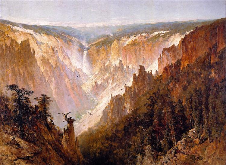 The Grand Canyon of the Yellowstone, 1884 - Thomas Hill