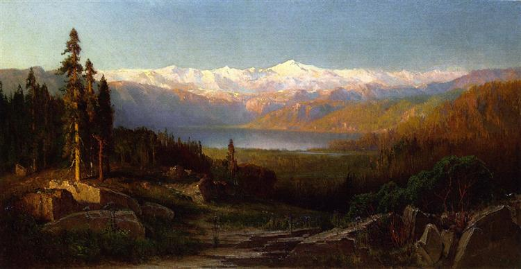 View in the Sierra Nevadas, 1869 - Thomas Hill