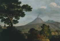 Monte Vesuvio dalla Torre dell'Annunziata vicino a Napoli - Thomas Jones