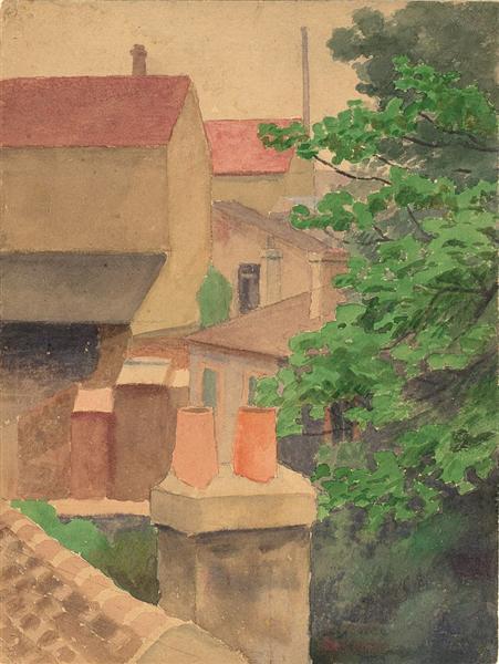 Rooftops, St. Cloud - Thomas Pollock Anshutz