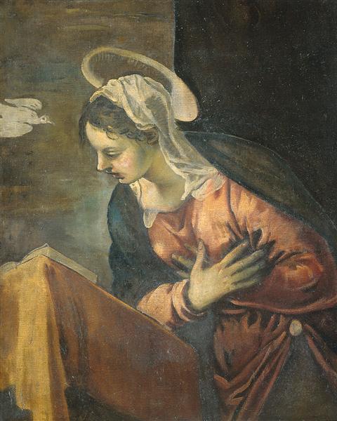 Annunciation, Maria, 1528 - 1594 - Tintoretto