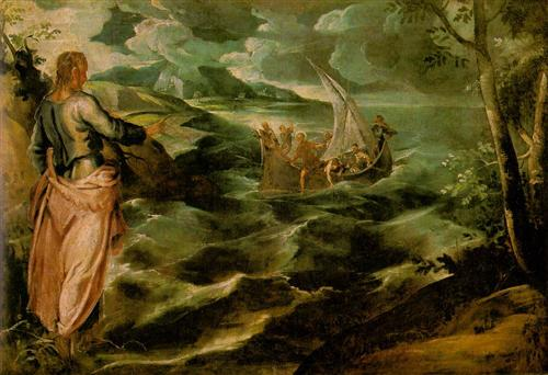 Christ on the Sea of Galilee - Tintoretto