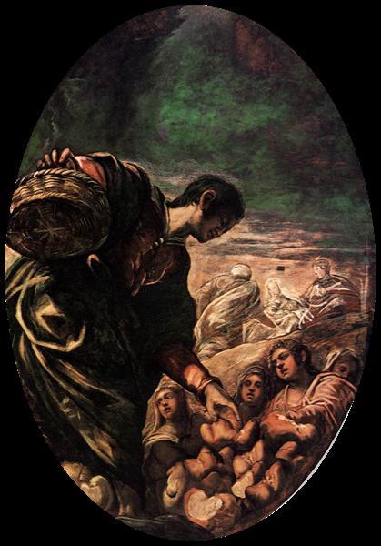 Elisha Multiplies the Bread, 1577 - 1578 - Tintoretto