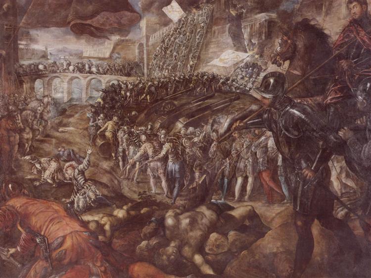 Frederick II conquered Parma in 1521, 1578 - 1579 - Tintoretto