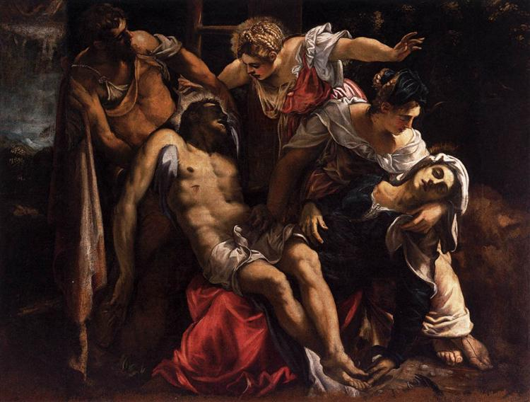 Lamentation over the Dead Christ, c.1560 - Tintoretto