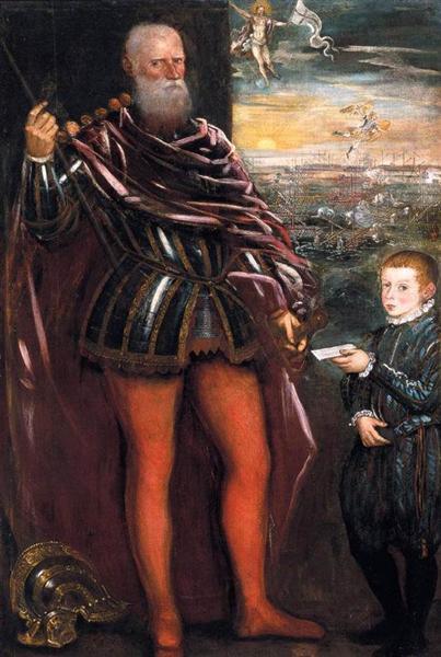 Portrait of Sebastiano Venier with a Page, c.1580 - Tintoretto