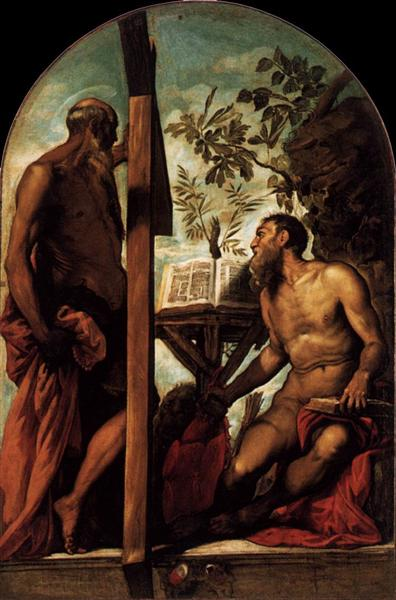 St Jerome and St Andrew, c.1552 - Tintoretto