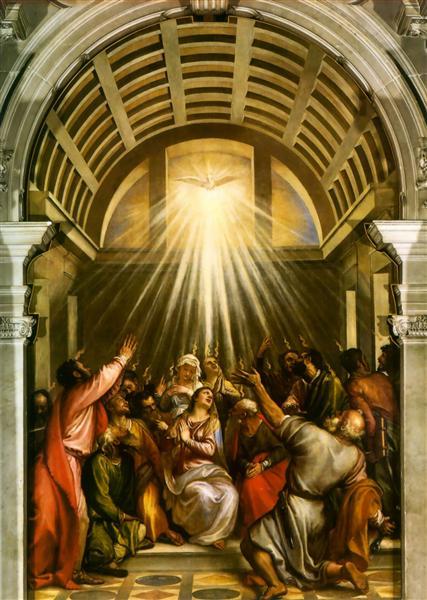 Pentecost, c.1545 - Titian