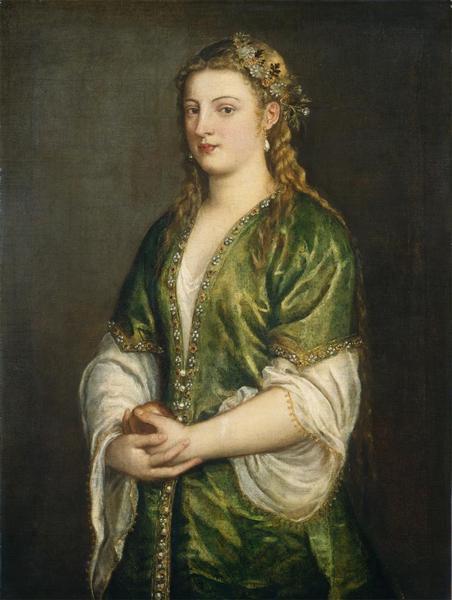 Portrait of a Lady, c.1555 - Ticiano Vecellio