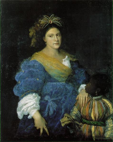 Portrait of Laura de Dianti, c.1523 - Tizian