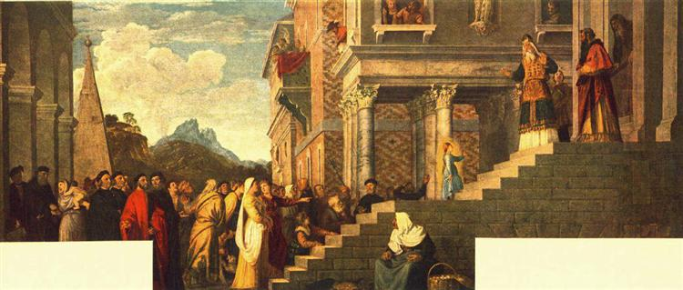 Presentation of the Virgin at the Temple, 1539 - Titian