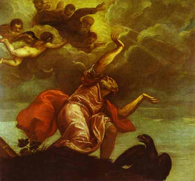 St John the Evangelist on Patmos by Titian