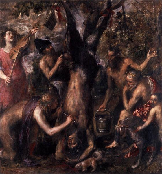The Flaying of Marsyas, 1576 - Ticiano Vecellio