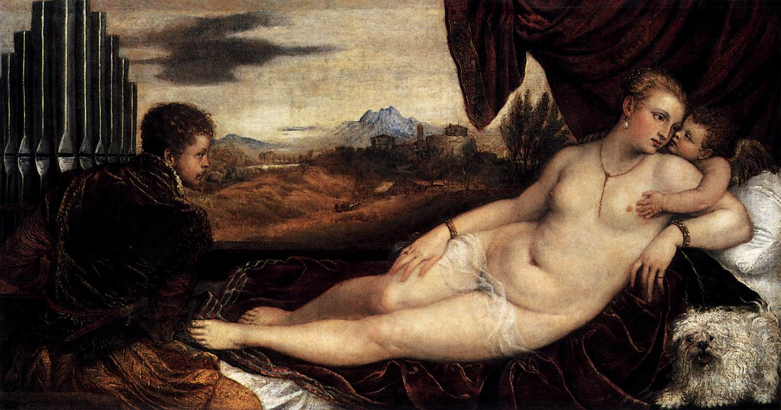 http://uploads5.wikipaintings.org/images/titian/venus-and-cupid-with-an-organist-1549.jpg