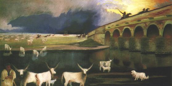 Storm on the Hortobágy, 1903 - Tivadar Kosztka Csontvary