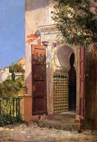 A Moorish Doorway, 1883 - Tom Roberts