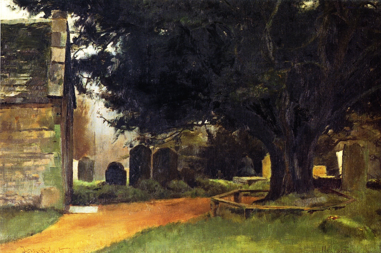 Churchyard at Shillingstone, 1884