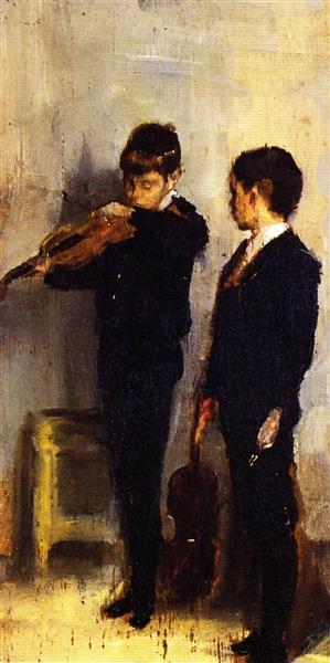 The Violin Lesson, 1889 - Tom Roberts