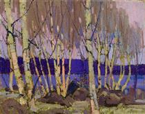 Evening, Canoe Lake - Tom Thomson