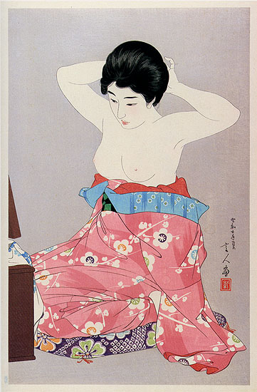A Woman Before the Mirror, 1930 - Torii Kotondo