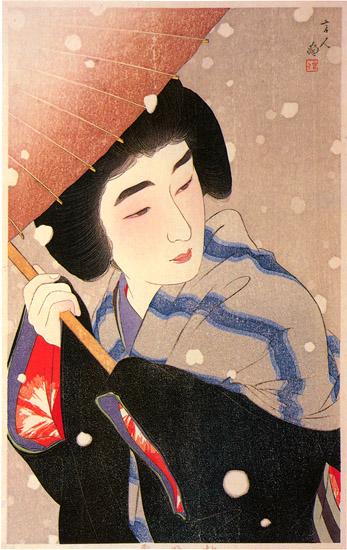Peony Snowflakes, 1934 - Torii Kotondo