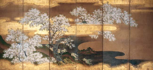 Cherry trees - Tosa Mitsuoki