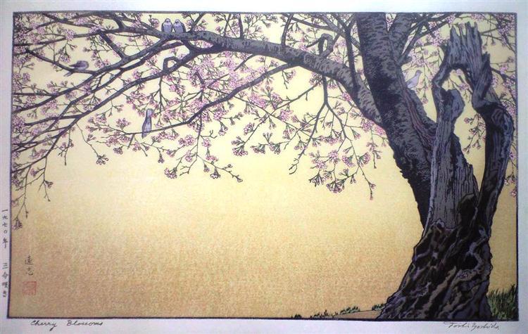 Cherry Blossoms, 1970 - Toshi Yoshida