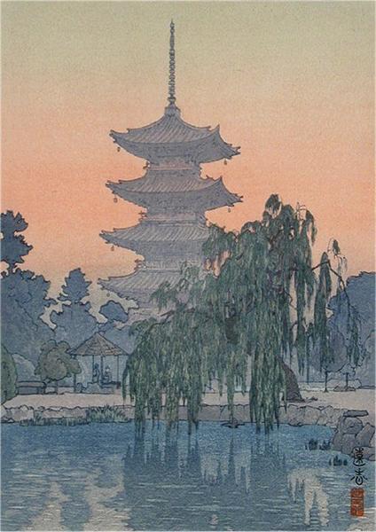 Pagoda in Kyoto, 1942 - Toshi Yoshida